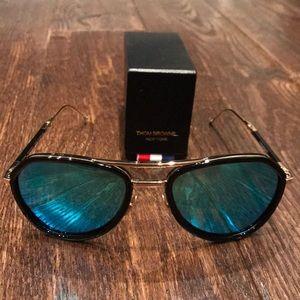 07c628524918 Thom Browne Accessories - Thom Browne folding blue aviator sunglasses